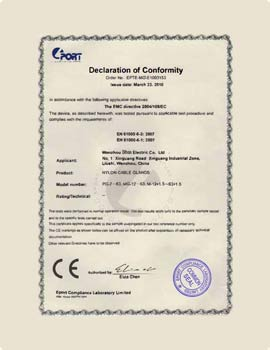 ce certificate for cable ties