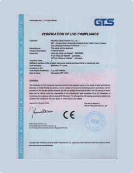 ce certificate for wire terminals