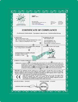 ce certificate for terminals