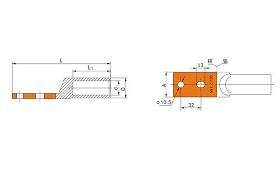 Bimetallic Lugs, DIFVAN Copper Aluminum Bimetallic Lugs and Bimetal