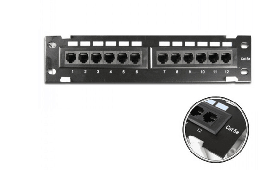 12 port cat5e patch panel