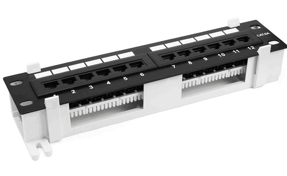 cat6a patch panel 12 port