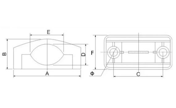 mv plastic cable clamp