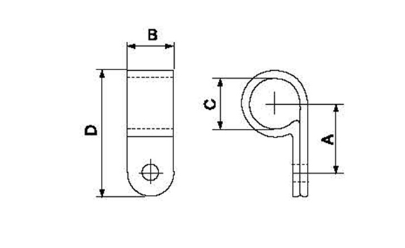 1 inch cable clamp