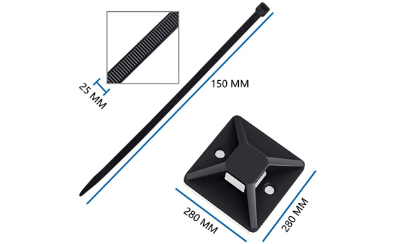 self adhesive cable tie mounts