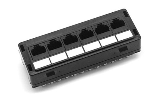 6 port patch panel
