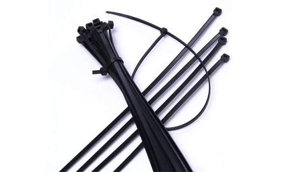 black plastic cable ties