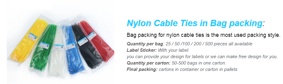 bulk cable ties packing