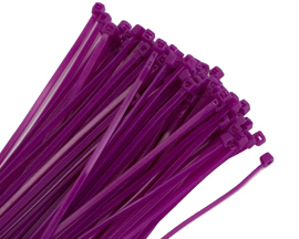 purple cable ties