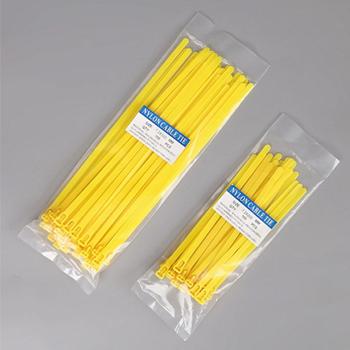 yellow zip ties