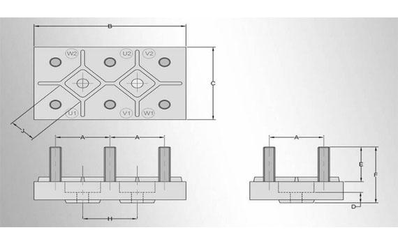3 phase motor terminal block