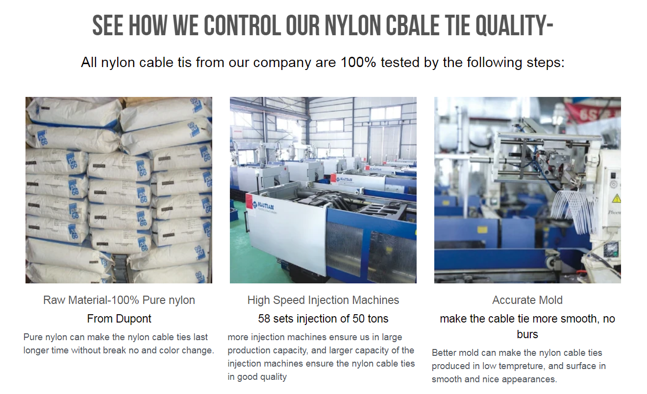 nylon cbale ties testing
