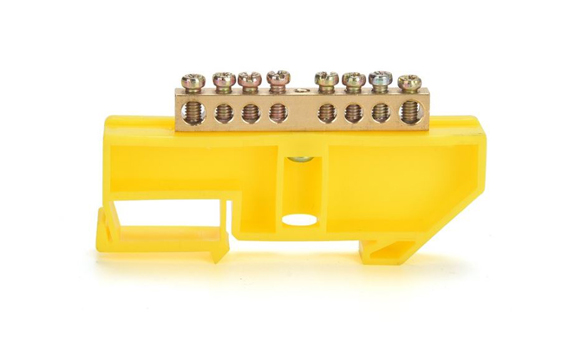 yellow busbar terminal block