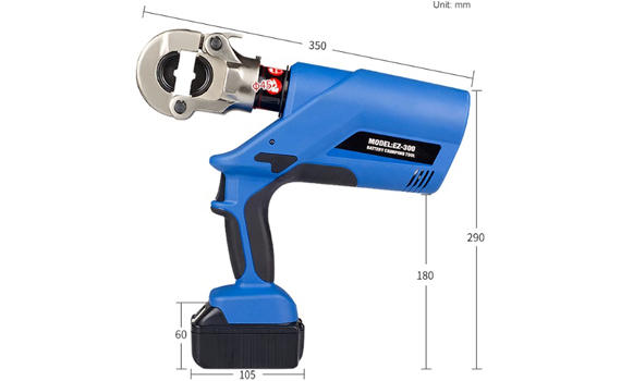 electric cable crimping tool