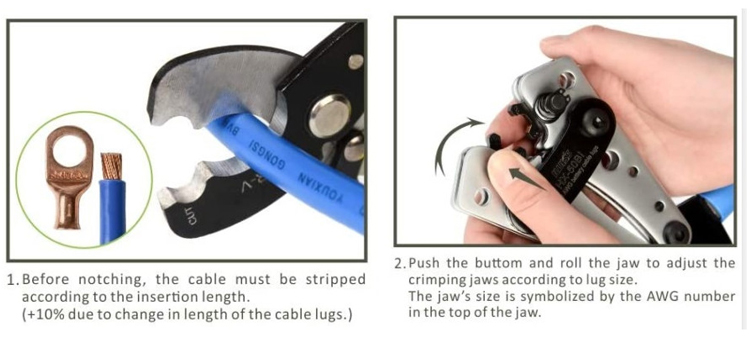 wire terminal crimping tool